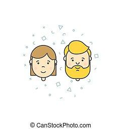 man woman user icons