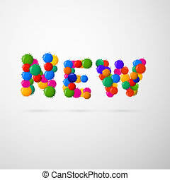 Colorful Vector New Blots Title