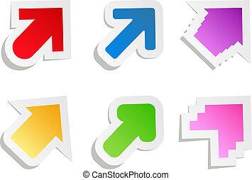 Colorful Vector Paper Arrows