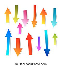 Colorful Vector Paper Arrows Set