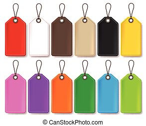 Colorful Vector Price Tags Set