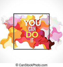 Yes We Can Positive Art Motivation Quote Poster Yes We Can Colorful