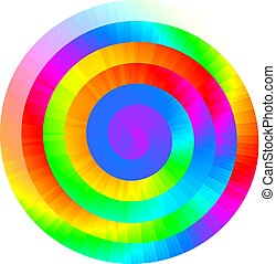 Colorful vector rainbow spiral
