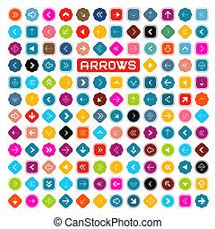 Colorful Vector Retro Arrows Set