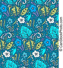 Colorful vector seamless floral pattern. Summer endless background with flowers.