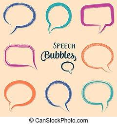 Colorful vector speech bubbles