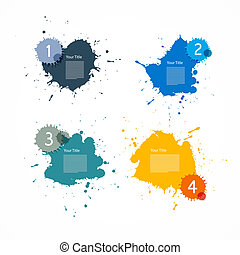 Colorful Vector Splashes Set