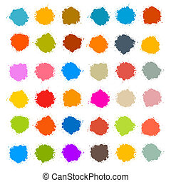 Colorful Vector Stains, Blots