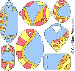 Colorful vector tags or labels