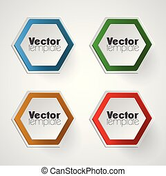 Colorful vector template set