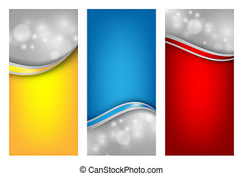 colorful vector templates set