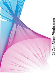 Colorful vector veil - Colorful Vector graphic veil made...