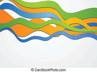 Colorful vector waves
