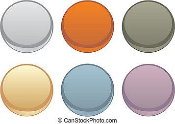 Colorful vector web button set