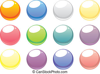 Colorful vector website button set