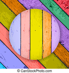Colorful Vector Wooden Planks Back
