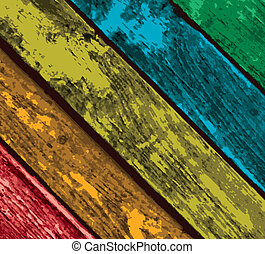 Colorful Vector Wooden Planks