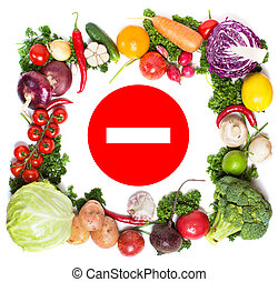 Colorful vegetable frame, healthy food concept.