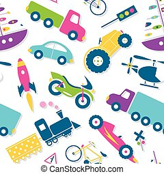 colorful vehicles pattern