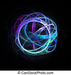 vein vessel rays - colorful vein vessel rays on dark...