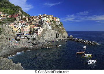 Colorful village of Manarola, Cinque Terre