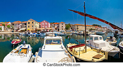 Colorful village of Sali on Dugi Otok island, Dalmatia, Croatia