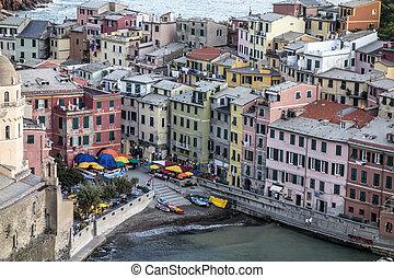 Vernazza, Cinque Terre, Italy - colorful village Vernazza,...