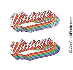 Colorful Vintage design - Vector illustration of Colorful...