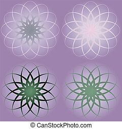 Colorful Vintage flower purple Seamless pattern