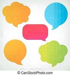 Colorful Vintage Speech Bubbles