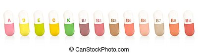 Colorful Vitamin Pills Capsules Colored Dietary Supplement