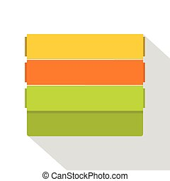 Colorful wallpapers icon, flat style - Colorful wallpapers...