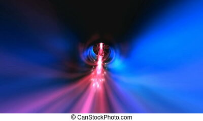 Colorful warp tunnel
