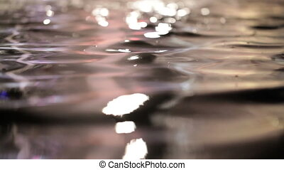 Colorful water surface with changing color. Beautiful calm background.