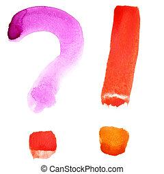 Colorful watercolor alphabet