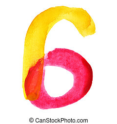Colorful watercolor alphabet
