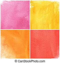colorful watercolor background for your design. painting on paper from my originals
