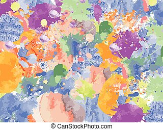 Colorful Watercolor blots splashes vector
