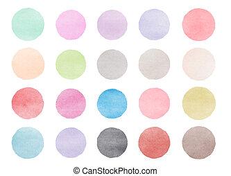 Colorful watercolor drops texture. Digital art painting.
