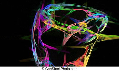 Colorful watercolor explosion abstract loop motion...