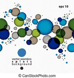 Colorful watercolor graffiti splash overlay elements,...