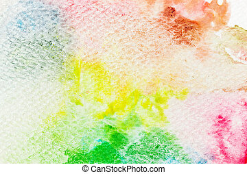 Colorful watercolor paint on canvas