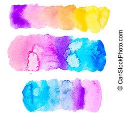 colorful watercolor set