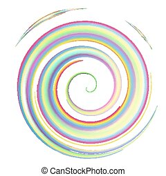 colorful watercolor spiral