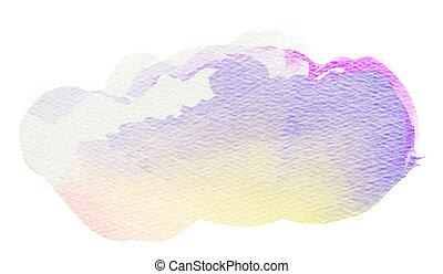 Colorful watercolor spot.