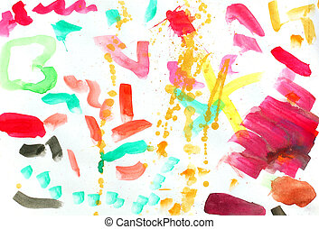 colorful watercolor stains
