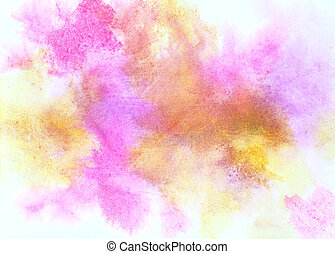 Colorful watercolor stains on paper