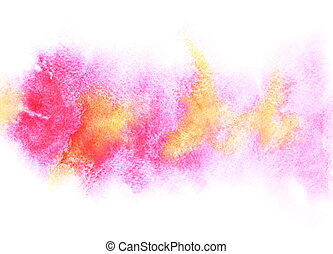 Colorful watercolor stripe with stains