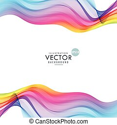 colorful wave design abstract background
