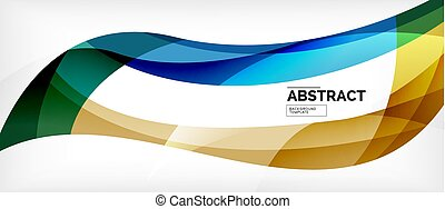 Colorful wave lines abstract background, color line for ...